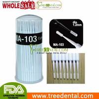 MA-103 Dia.1.2mm Cylinder Size Dental Lab Disposable Micro Applicators Brushes-100pcs high quality microbrush dental