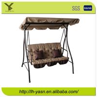 Luxurious Steel three seat swing bed, outdoor swing, garden swing