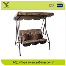 Luxurious Steel three seat swing bed, outdoor swing, garden swing