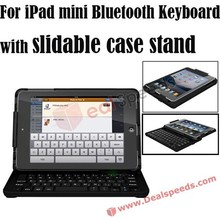 For iPad mini Wireless Bluetooth keyboard cover with Slidable Case Stand