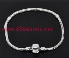 Chain Snap Clasp Bracelets Fit European Charm 21cm
