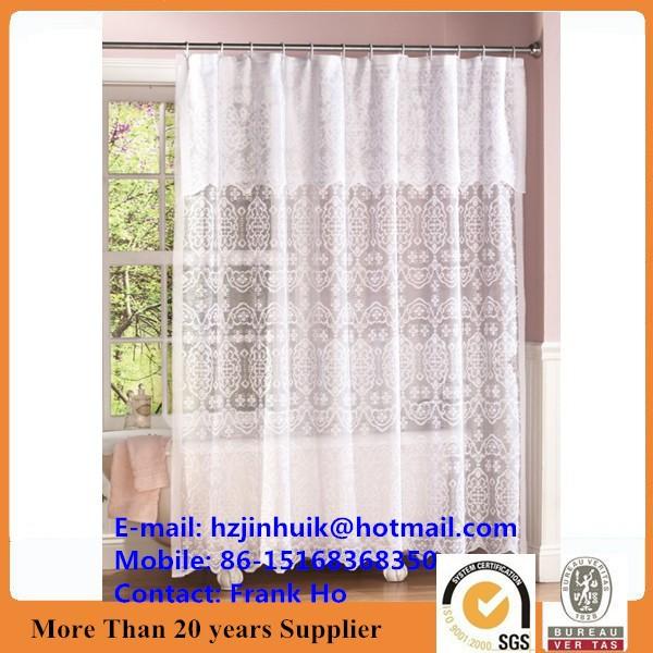 Lace Shower Curtain Decorative Valance