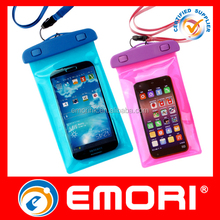 The best selling customized summer gift IPX8 durable waterproof mobile pouch for iphone