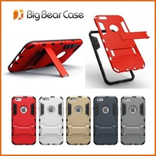 Hybrid combo slim armor case for iphone 6 plus case with stand