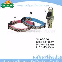 High quality customized blue leather dog collar