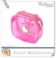 2016 Hello kitty waterproof PVC cosmetic bag lady bag