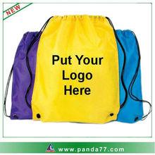 various colors cheap custom drawstring bag