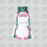 Custom made girl's basketball jersey with short
