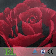 Big red rose wall papers 3d non woven wallpaper