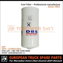 High quality diesel engine spare parts fuel filter element