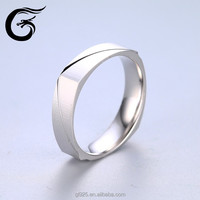 mens sterling silver ring settings simple line ring white gold ring settings without stones