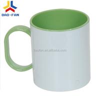 Unbreakable sublimation Inner & Handle polymer mug,sublimation mug