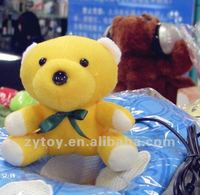 Plush animal toy for webcam optical zoom
