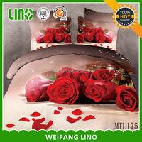 home decor bed cover printing 100% cotton moda home bedding 3d