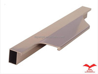 anodized aluminium alloy handle for kitchen cabinet framed glass door embedded door pull