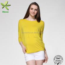 Alta calidad nuevos modelos elegante blusa de seda