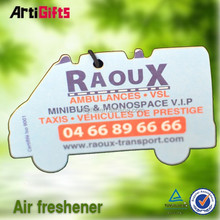 new product custom absorbent special design car paper air freshener