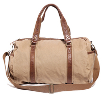 6520 Fashion High End Travel Bag Canvas Weekender Bag for Men Outside