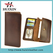 OEM best brand man leather wallet , factory phone and coin bag long leather man wallet