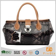 N974A-B2103 shiny patent snake leather bags Good Quality Ladies Leather Handbags