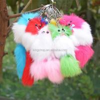 Small fox rabbit fur mobile phone pendant keychain bags pendant chirismas girft