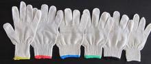 Poignet couleur knited gants de protection gants de coton