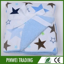 2015 popular woven baby swaddle printing blanket in factory china
