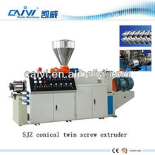 plastic conical exruder with twin screw