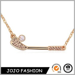 Latest wholesale jewelry fashion design eco-friendly golf necklace for women