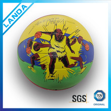 #6 customized durable printes rubber material basketball