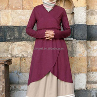 new fashion design muslim style blouse clothes for muslim women