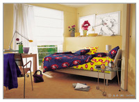 bed sheet 100% cotton kids boys bedding set