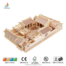 handmade mini puzzle house wood toy china suppliers wooden puzzle craft items