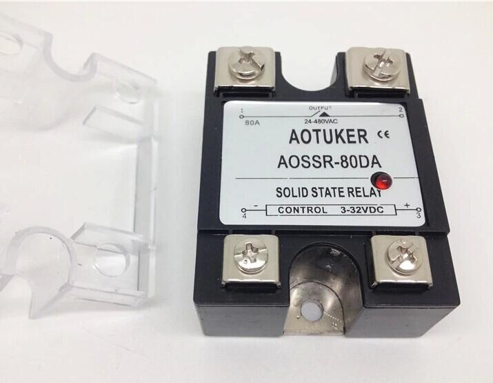 Solid State Relay Aossr-80da 80a Dc Dc Control Ac Ac Dc-ac Solid ...