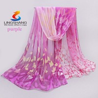 Lingshang 2015 chiffon scarf women's silk scarf summer sunscreen spring and autumn accessories scarf cape