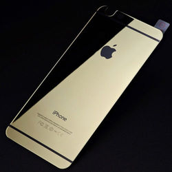 """Golden Back Cover Mirror Tempered Glass Guard Skin For iPhone 6 4.7"""" & Plus 5.5"""""""