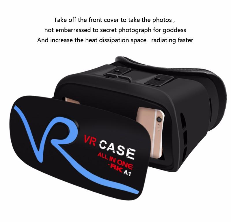 Caso RK-A1 para smartphone shenzhen google óculos VR vrarle segunda geração caixa de óculos 3d vr versão atualizada