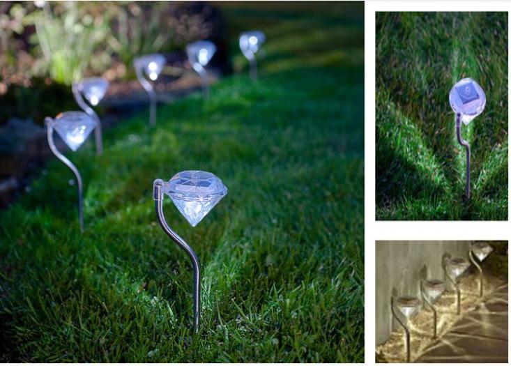 Stainless Solar lawn light for garden decorative 100% solar power led solar light outdoor led solar lights Diamond Yard lighting