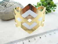 geometry spike pattern wholesale bracelet cuff
