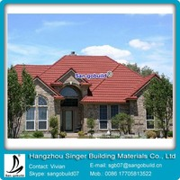 Hot Selling Cheap Sheet Stone Metal Roofing Shingle / Steel Roof Tiles