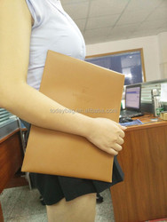 OEM high quality file bag printing and embossing in china