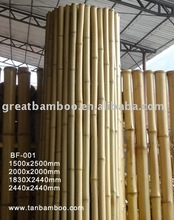 Rolled natural bamboo fencing