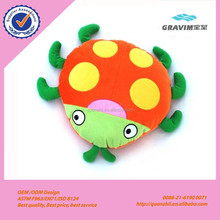 Custom stuffed soft toy plush animal pillow plush ladybug cushion