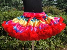 2015wholesale Full and Fluffy Chiffon Pettiskirt for Fall Kids Thanksgiving Wear Cheap Pettiskirt