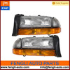 55055111AI Left and right Headlights Headlamps with Park Signal Lamp Replacement for Dodge Pickup SUV