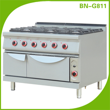 (BN-G811) Cosbao Hotel Restaurant Equipment cooking range prices/free standing oven/gas stove brands