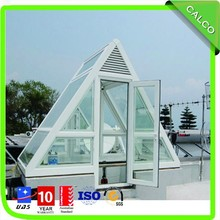 Prefabricated glass house glass greenhouses china glass roof system