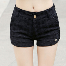 Summer new lace was thin casual pants shorts female black white wholesale Pants Trousers
