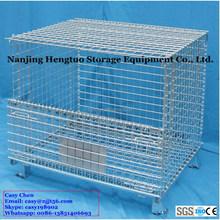 Heavy Duty Storage Folding Wire Mesh Basket with Lid