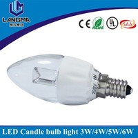 dimmable ac cob driverless led candle bulb 4w ceramic led candle light